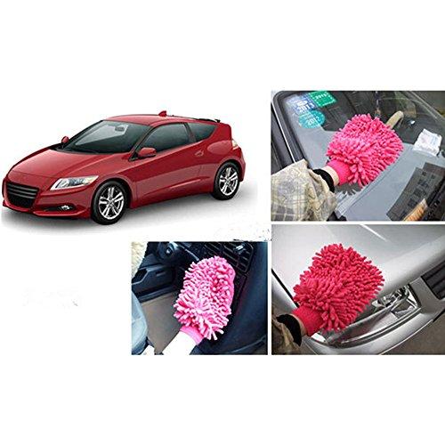 Mikrofaser Waschhandschuh Auto Handschuhe 2 Stück Felgenhandschuhe Reinigungstuch Auto-Reinigungstuch,Zufällige Farbe