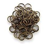 Schlüsselringe / split Rings 10mm Durchmesser Farbe Antik Bronze 15g ca.80 Stk ▶ Kostenloser Versand ◀