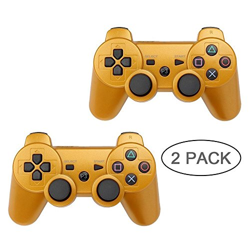 PS3 Controller Wireless Bluetooth sechs Achsen Dualshock Gamecontroller Sony Playstation 3 PS3 gold