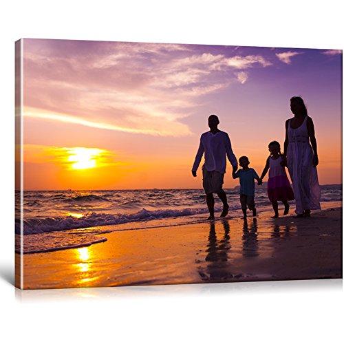 Ihr Foto auf Leinwand 80x60 cm SOFORT ONLINE VORSCHAU Ihr eigenes Bild auf Leinwand mit Keilrahmen - Wandbild mitWunschmotiv - Persönliches Kunstdruck - Amazon-verkäufer-konto Meine