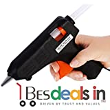 Torrid 40 Watt Hot Melt Glue Gun With Hot Melt Glue Sticks With Triple Power Rapid Heating And Quick Melt Perfect For Fixing Household Items,