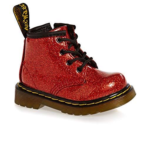 Dr. Martens Mädchen 1460 Glitter I Kurzschaft Stiefel, Rot (Red Multi 635), 19 EU