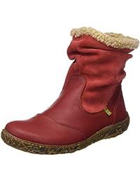 El Naturalista Damen N758 Soft Grain-Lux Suede Nido Kurzschaft Stiefel
