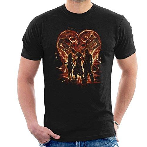 Kingdom Hearts Trio Red Men's T-Shirt