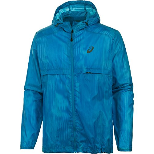 ASICS Damen fuzeX Packable Jacket Men Jacken, Blau, M - Mens Fusion Jacke