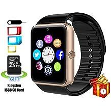 Smartlife a prueba de sudor bluetooth Smart reloj teléfono YG8con 16GB tarjeta SD y ranura para tarjetas SIM para Android Samsung S5S6Nota 45HTC Sony LG y iPhone 55S 66Plus Smartphone