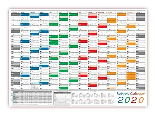 /Wandplaner 2020 (gerollt) DIN A0 Format (841 x 1189 mm) mit 14 Monaten, kompletter Jahresvorschau 2021 und Ferientermine/Feiertage aller Bundesländer ()