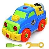 Montage Spielzeug Set Baufahrzeuge Auto mit Schraubenzieher Geschenk Fahrzeuge mit Funktion für Kinder ab 3 jahren