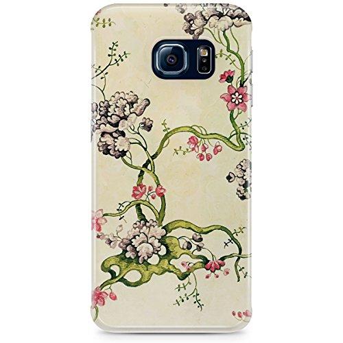 Queen Of Cases Coque pour Apple iPhone 6Plus/6S Plus-Vintage Floral-Premium en plastique blanc