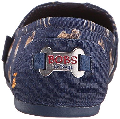 Bobs De Skechers Bobs pour chiens en peluche Slip-on Flat Navy Pug