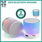 #2: Zoyo Bluetooth Speakers With Led Wireless Bluetooth Speakers With Handsfree Calling Feature, Fm Radio & Sd Card Slot Compatible Samsung, Motorola, Sony, Oneplus, HTC, Lenovo, Nokia, Asus, Lg,Oppo,Vivo, Coolpad, Xiaomi, Micromax and All Mobiles With Android devices (Assorted Colors)