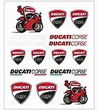 Pritelli 1856012Set Aufkleber Stickers Ducati Corse, Grandio