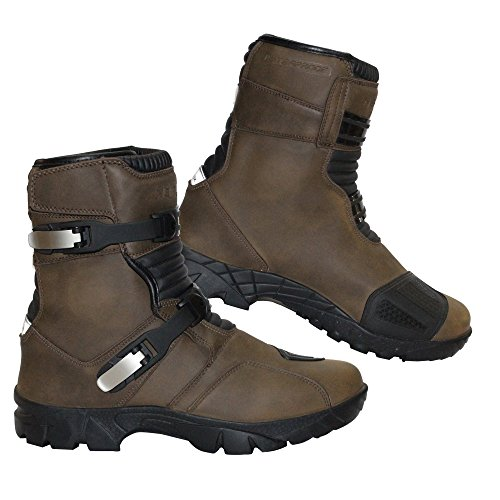 REXTEK Stivali Rider New Moto Impermeabile Stivali in Pelle Moto Touring Scarpe Armoured off Road per Uomo Do
