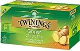 Twinings Tè Verde allo Zenzero - Tè Verde combinato con Zenzero e Lemongrass, per una Miscela Rinfrescante, Speziata e Dissetante (25 Bustine)