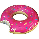 KriToy Inflatable Donut Swim Ring - Blow Up Floating Tube Raft Tube For Swimming Pool Beach For Age 5-10 Years - 65cm