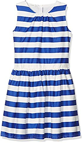 NAME IT Nitharia Spencer Nmt, Robe Fille, Multicolore (Mazarine Blue), 128