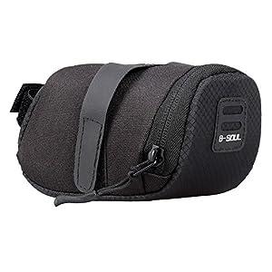 VANKER Bolsa de Bicicleta, Bolsa de sillín,Bolso de la silla de montar del asiento de la bicicleta del el paquete plegable de la cola -- Negro