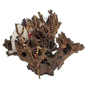 Arbre porte-bijoux décoratif sB2241 meubles & exotiques décoratif en racine en bois flotté à fait unique la pièce unique en main stable, teinte bois massif rustique style maison de campagne