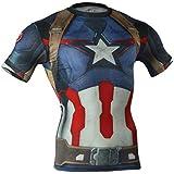 M.Baxter Camiseta de compresión deportiva para hombre de manga corta remera running y fitness