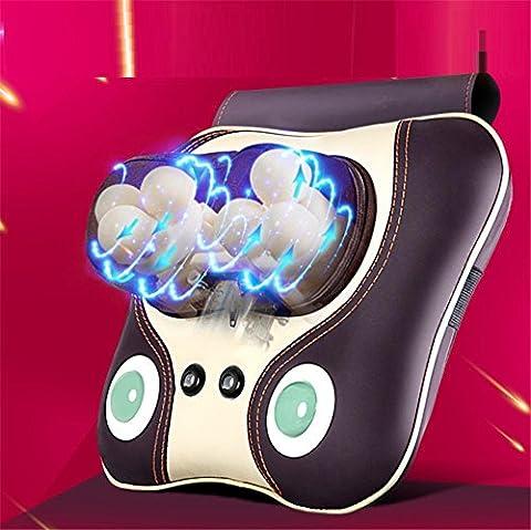 AMYMGLL Multifunktions-Massage-Kissen Massage-Instrument Elektro-Home-Auto-Massage-Maschine 3D-Rad-Massage-Kopf Senior PU-Leder Leder, um Schmerzen zu lindern