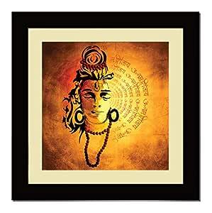 ArtX Paper Premium OM Namah Shivaya Shiv Mantra Wall Art Painting, Multicolor, Traditional, 16X16 in, Set of 1