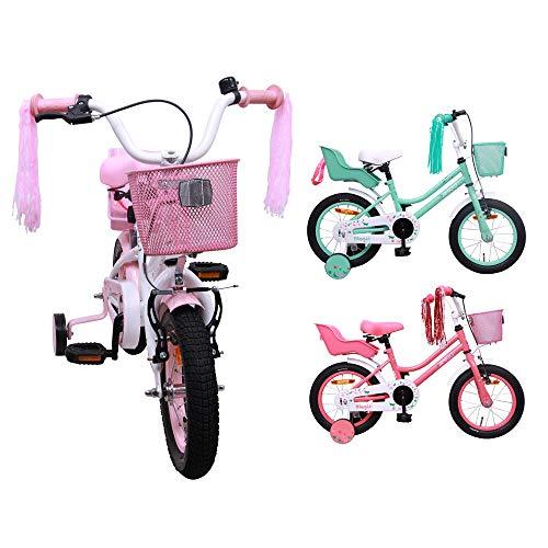 AMIGO Magic - Kinderfahrrad - 12 Zoll - Mädchen - mit Rücktritt und Stützräder - ab 3 Jahre - Weiß/Rosa