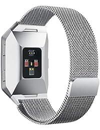 Scpink Fitbit Ionic Strap Metal, Banda de Bloqueo magnética Ajustable de Acero Inoxidable con Bucle