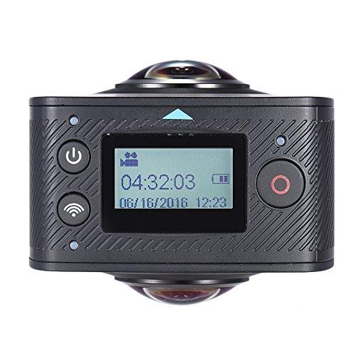 Andoer Doppel-Objektiv 360-Grad-Panorama-Digital-Video-Sport-Action-VR-Kamera 1920 * 960P 30fps HD 8MP mit 220 Grad-Fisch-Augen-Objektiv - 4