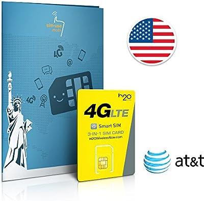 SIM prepago EEUU - 3GB 4G LTE - lllamadas y mensajes de texto Internacionales - 30 días