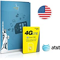 Prepaid SIM card USA AT&T network - 12GB 4G LTE - Unlimited international calls & texts - 60 Days