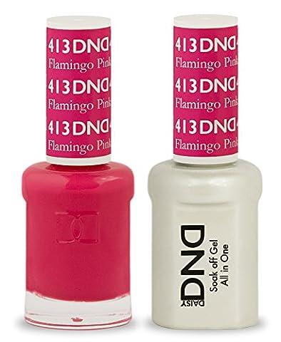 DND Gel Polish/Nagellack-Lack Duo–413–Flamingo Pink 15ml