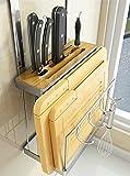 Messer Schneidebrett Rack, Küche Edelstahl Wand-Cutter Rack Schneidebrett Rack Frei Punch Rack