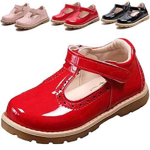 DADAWEN, Mädchen Babyschuhe - Lauflernschuhe, Rot - rot - Größe: 27