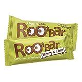 ROO'BAR Hemp Protein & Chia - 20 bars (20x 30g) - Raw Superfood Bar (organic, vegan, glutenfree, raw) by ROO'BAR