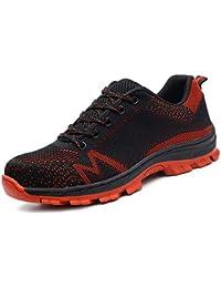 6714f5912dbd5 CHNHIRA Chaussures de Sécurité Homme Embout Acier Protection Confortable  Léger Respirante Unisexes Chaussures ...
