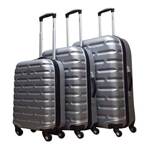 Benzi - hartschale - Kofferset - 3 Teilig - Bricks - silber