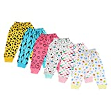 #7: Littly Unisex 100% Pure Cotton Baby Pyjamas Lowers For Kids Toddlers, Pack of 6 (Multicolor)