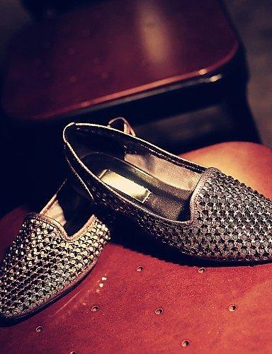 ShangYi gyht Scarpe Donna - Mocassini - Tempo libero / Casual - Comoda / Punta arrotondata - Piatto - Nappa Leather - Argento / Grigio gray