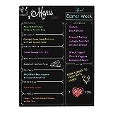 Newcomdigi Pizarra Magnética para Nevera Pizarra de Planificación con Calendario Semanal para Frigorífico Organizador Magnética para Notas y Planificación Semanal 30 x 40 cm Color Negro