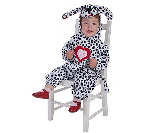 Imagen de creaciones llopis  disfraz de dálmata para bebe hasta 18 meses, talla única