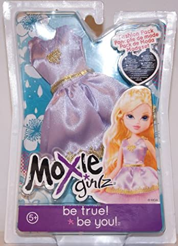 Moxie Girlz - Cooles Outfit - Fashion Pack - Purple Satin BALL DRESS - MOC