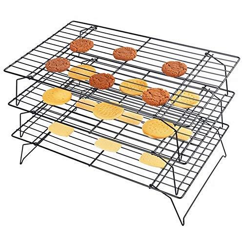 mokpi Edelstahl 3-Tier-stapelbar- und Kühlung Rack Set 15.7''x9.8'' (Tier-rack-kühlung)