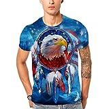 Männer 2019 Mode 3D gedruckt Kurzhülse O Hals T-Shirt Tops Bluse HUYURI