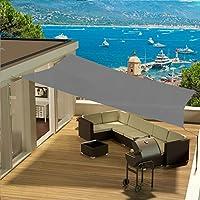 Toldo parasol cuadrado con sistema de colocación tipo «vela» para exteriores, protector solar contra los rayos UV con cuerdas de fijación, disponible en varios colores y tamaños