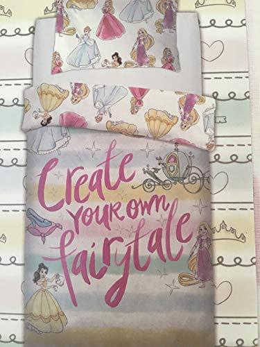 Conjunto de Funda Edredón más Almohada Princesas Disney - Cama Individual 135x200 cm - Producto Oficial