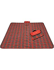 Outdoor Tapis de pique-nique humidité beständige Pad printemps Tour Tapis gazon Tapis Red Lattice