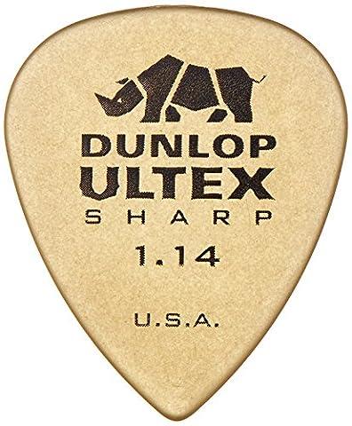 Dunlop 433 ULTEX Sharp Picks - Player's Pack 1.14mm, ivory (6 pack)