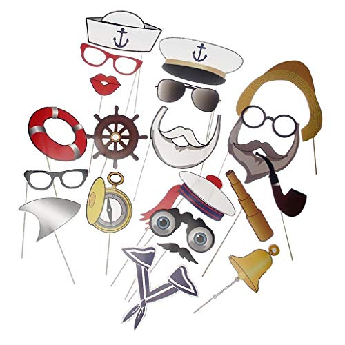 1 Set lustige Matrosen-Foto-Requisiten, Captain Marineblau, nautische Requisiten, Kinder Halloween, Geburtstag Party Supplies