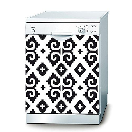 Decusto - Retro Pattern - Adhesivo Lavavajillas