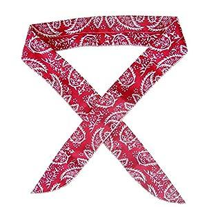 xMxDESiZBody Ice Cooling Bandana Scarf Wrap Stirnband Sommer Outdoor Sport Halskühler – Rot